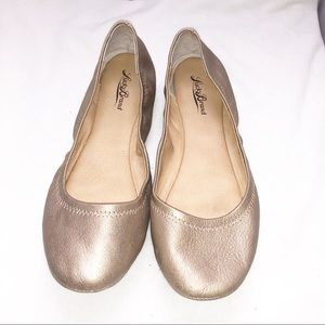 Lucky Brand Emmie Ballet Flat Gold Bronze 9.5